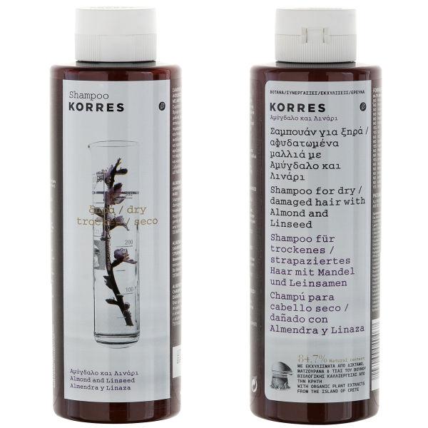 Acondicionador de almendra Korres Almond and Linseed - cabello seco/dañado (200ml)