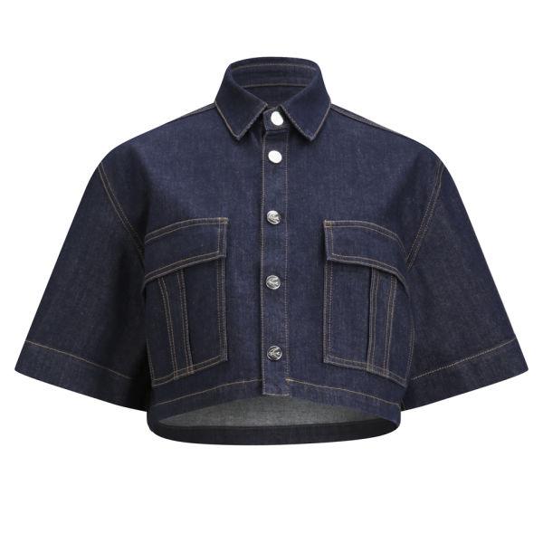 McQ Alexander McQueen Women's Cropped Denim Jacket - Indigo