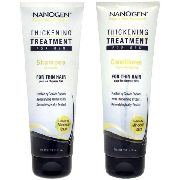 Nanogen Thickening Treatment ShampooandConditioner Bundle for Men
