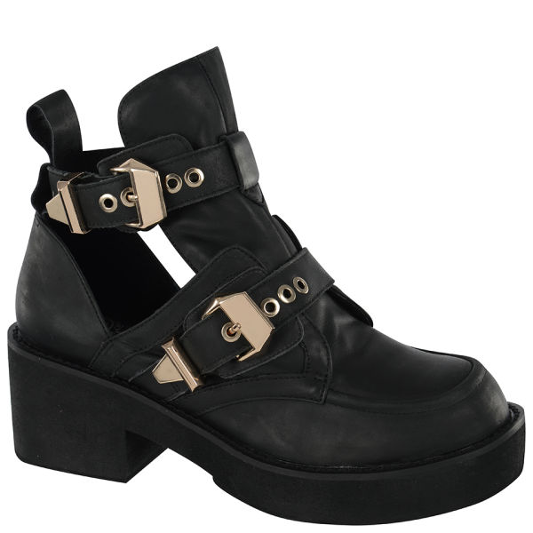 Jeffrey Campbell Women's Coltrane Leather Boots - Black