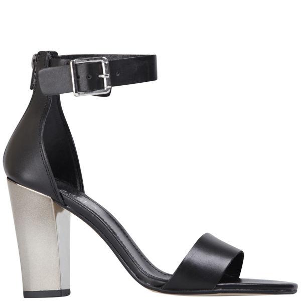 Carvela Women's Krispy Leather Heeled Sandals - Black
