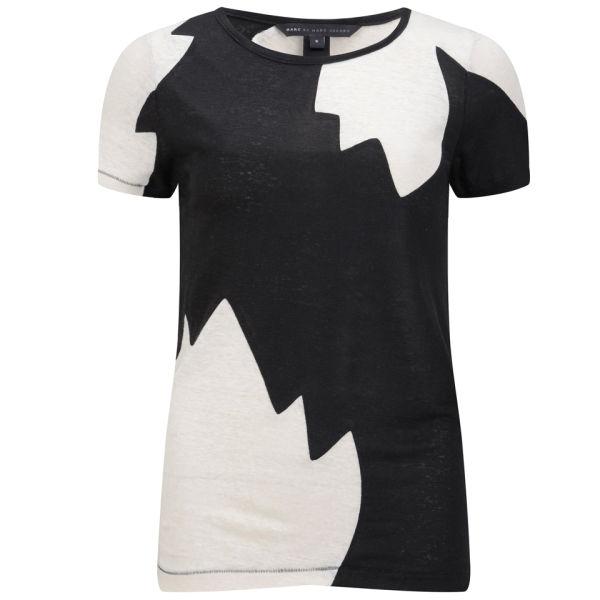 Marc by Marc Jacobs Women's Carmen Flame Colour Block T-Shirt - Black Multi