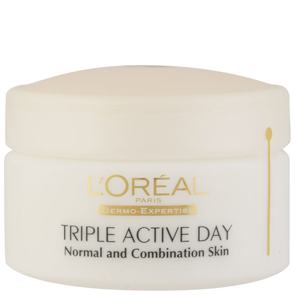 Hidratante multi-protección de día (piel normal/mixta) Dermo Expertise Triple Active de L'Oreal Paris (50 ml)