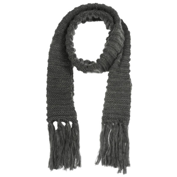 Mens Chunky Cable Knit Scarf - Grey Clothing TheHut.com