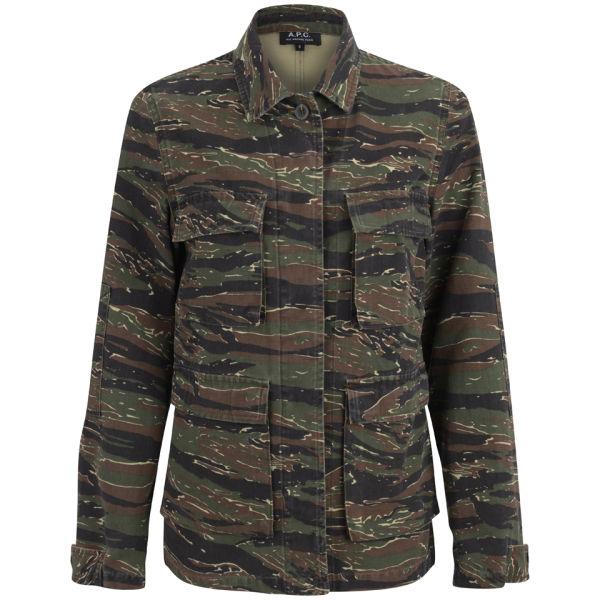 A.P.C. Women's 70s Army Jacket - Khaki Militaire