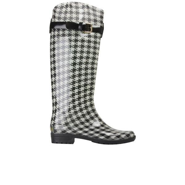 Lauren Ralph Lauren Women's Rossalyn Wellington Boots - Black/Cream