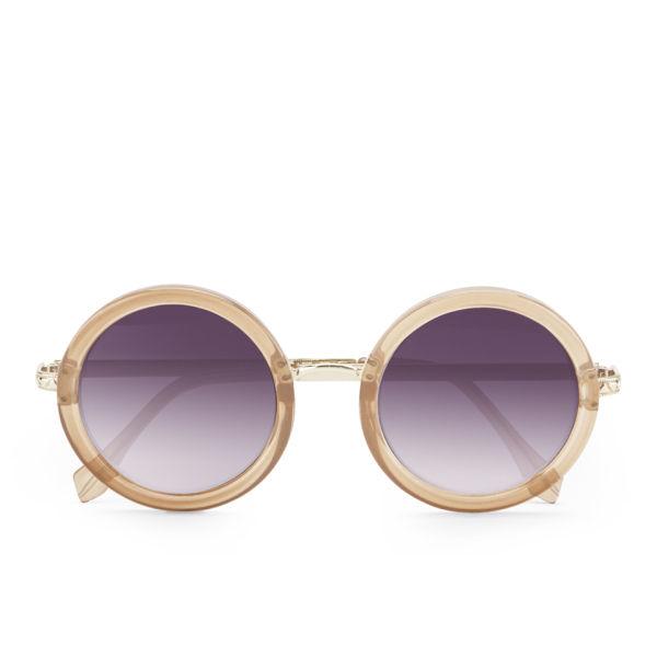 Le Specs Women's Ziggy Round Sunglasses - Spice/Gold