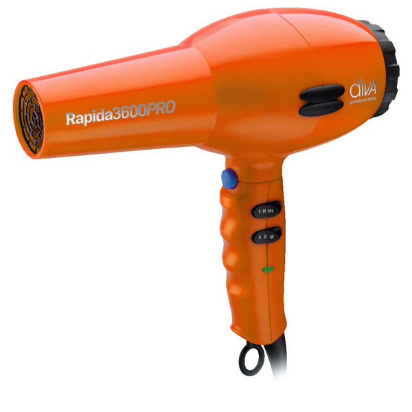 Diva Professional Rapida 3600 2000w Hairdryer Orange