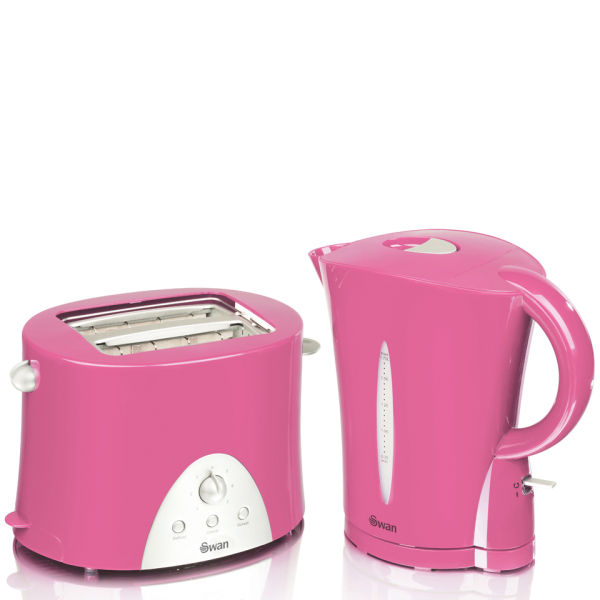 Swan kettle and toaster twin pack pink iwoot