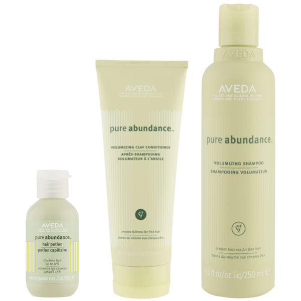 Aveda Pure Abundance Volumising Trio- Shampoo, Conditioner & Abundance Hair Potion