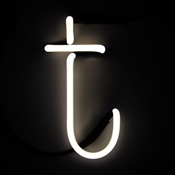 seletti neon wall light letter t homeware thehutcom With neon wall letters