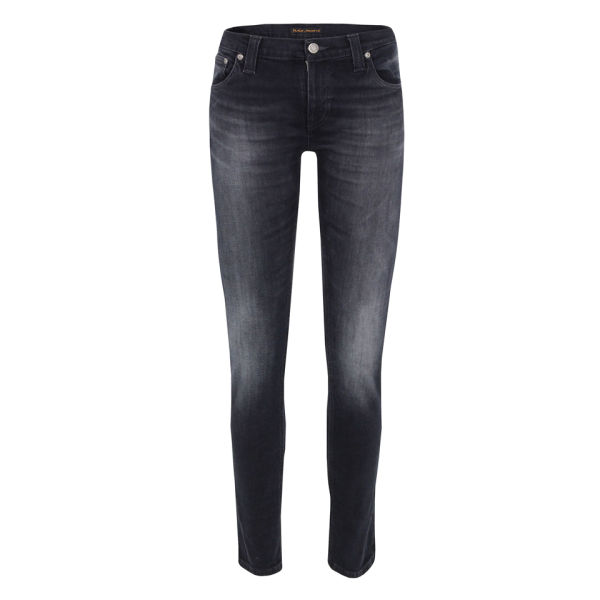 Nudie Women's Tight Long John Organic Skinny Jeans - Black Grey