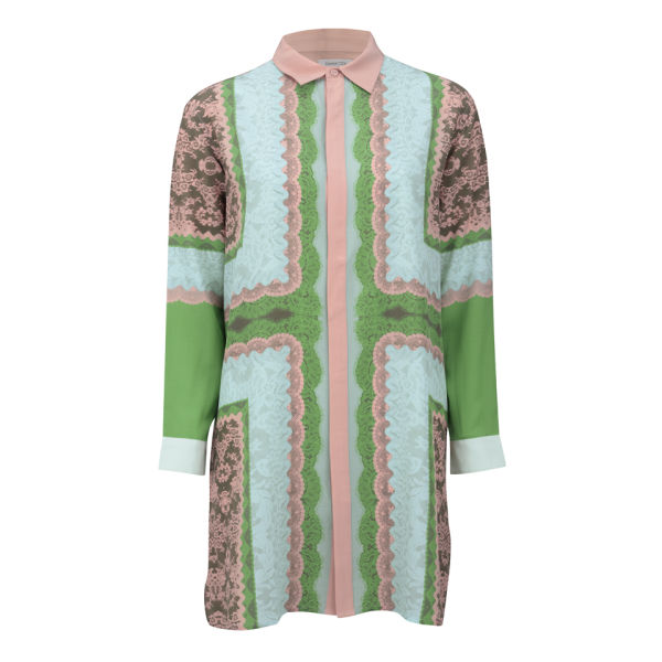 Emma Cook Women's Silk Shirt Dress - Pastel Lace