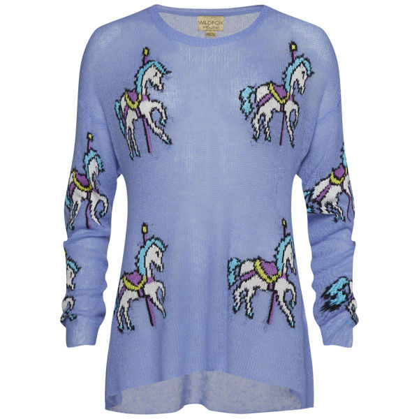 Wildfox Women's Carousel Ponies Jumper - Lightening