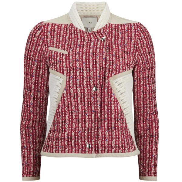 IRO Women's Textured Aubrey Jacket - Red Multi