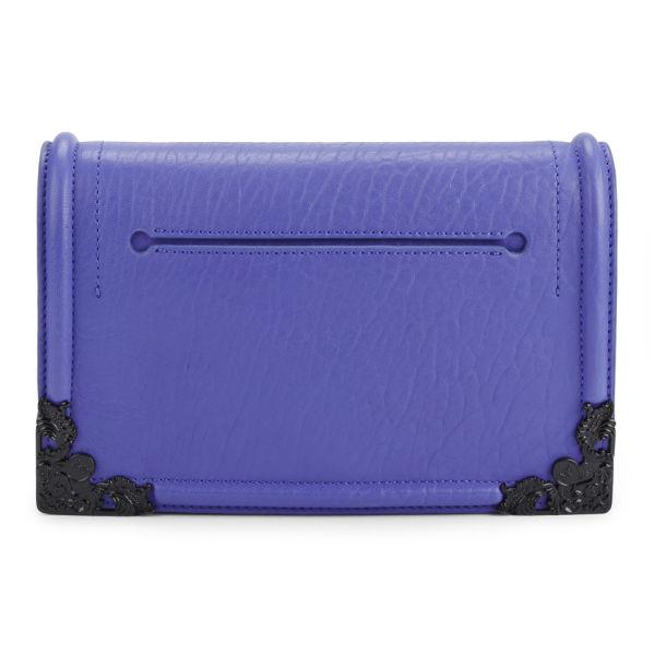 McQ Alexander McQueen Simple Fold Leather Clutch/Cross Body Bag - Cobalt