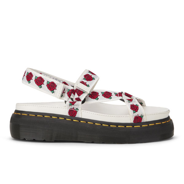 Dr. Martens x Agyness Deyn Women's Leather Sandals - White/Rose