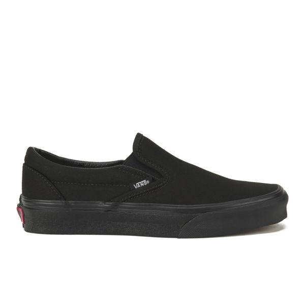 Vans Classic Slip-On Canvas Trainers - Black