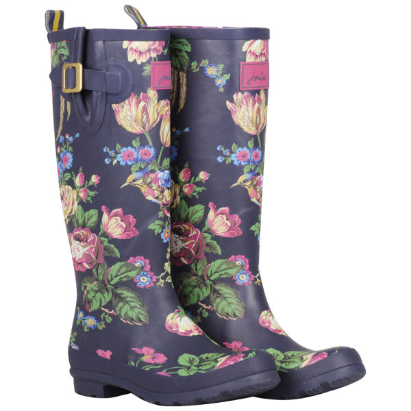 Joules Women S Welly Print Wellies Navy Floral Free Uk
