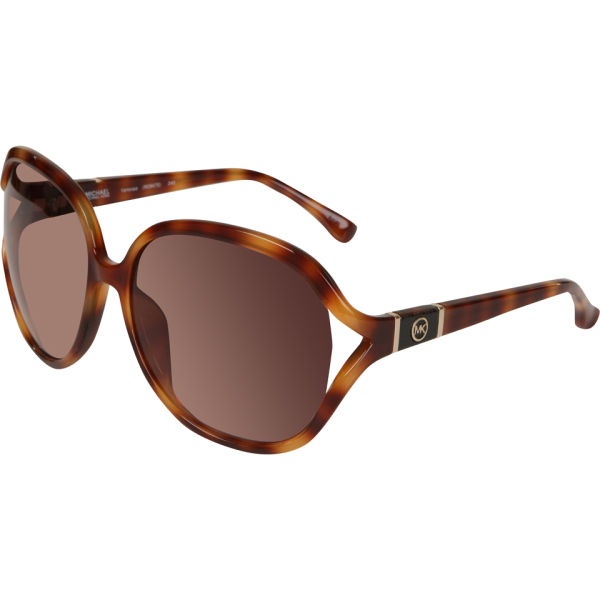MICHAEL MICHAEL KORS Vanessa Oversized Round Sunglasses - Soft Tortoise