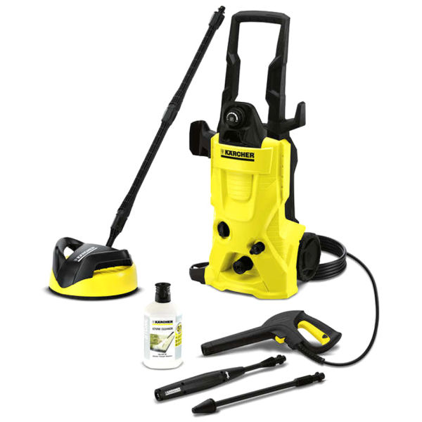karcher k4 home pressure washer with t250 patio cleaner