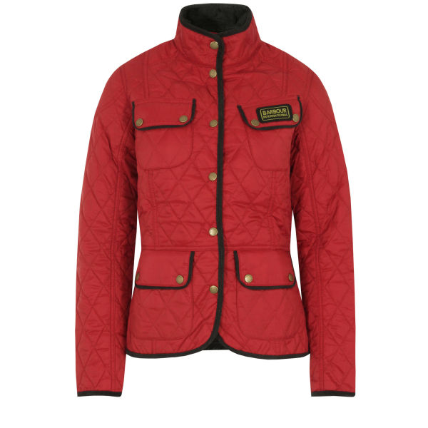 Barbour Women's Red & Summer Vintage International Jacket - Black