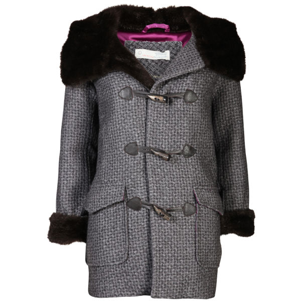 Odd Molly Women's Muffle Duffel Coat - Grey Melange