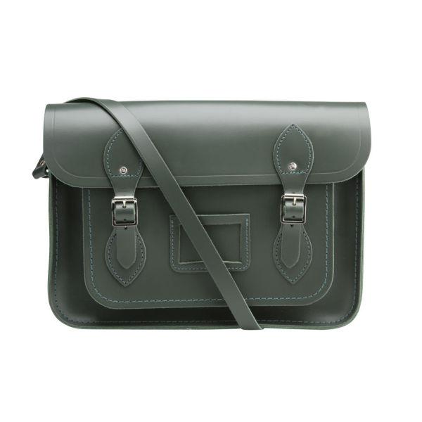 The Cambridge Satchel Company 13 Inch Classic Leather Satchel - Dark Olive