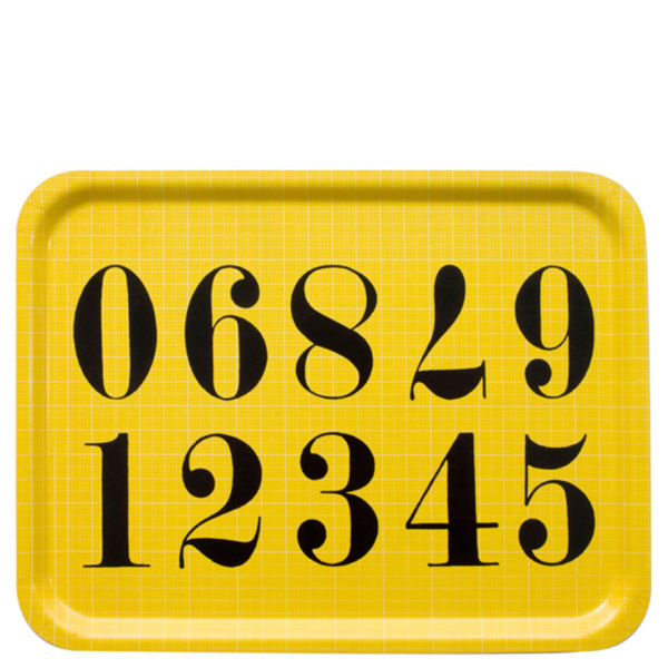 Eames Office House of Cards Large Tray - Numbers