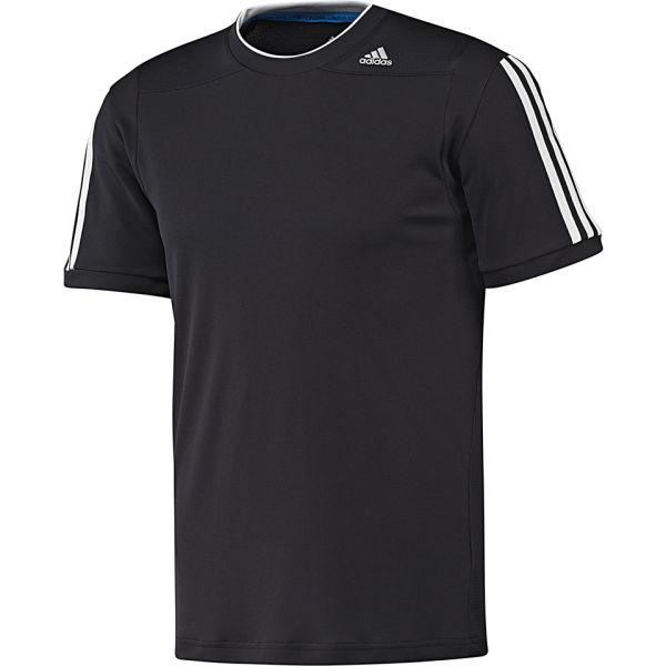 Adidas men 39 s classic training t shirt black grey sports for Adidas classic t shirt