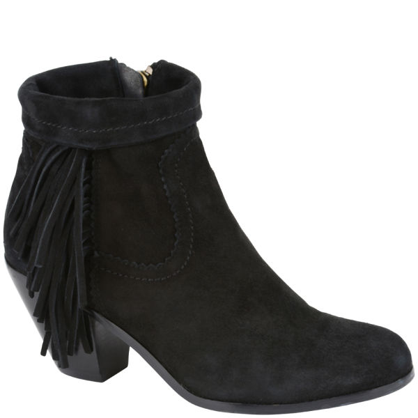 sam edelman s louie fringed suede ankle boots