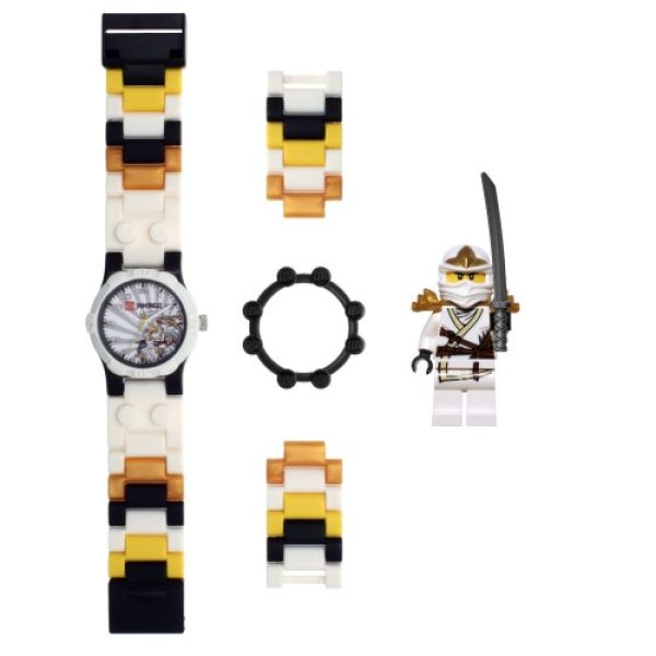 lego ninjago zane uhr mit minifigur sowia. Black Bedroom Furniture Sets. Home Design Ideas
