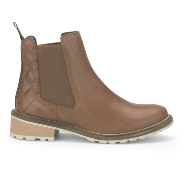 Barbour Women's Loriner Quilted Leather Chelsea Boots - Tan