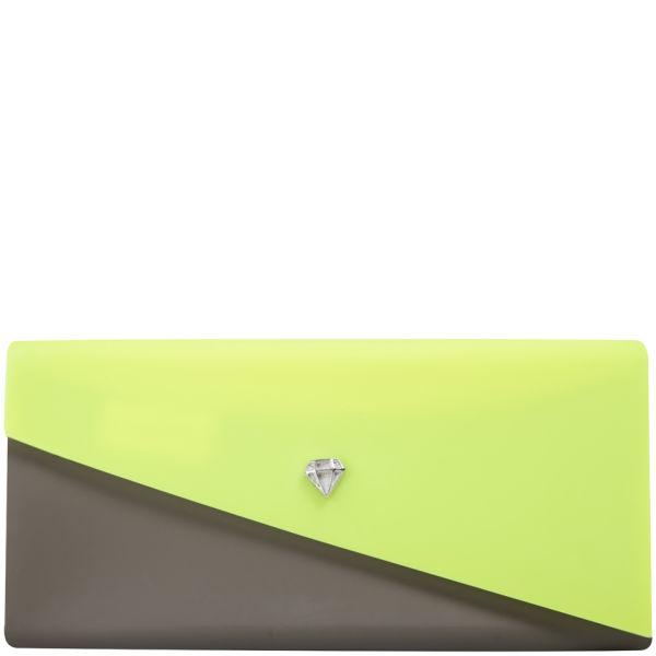 Melissa Women's Chromatic Clutch - Neon Yellow/Khaki