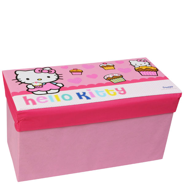 Hello Kitty Toy Chest : Hello kitty storage box bench iwoot
