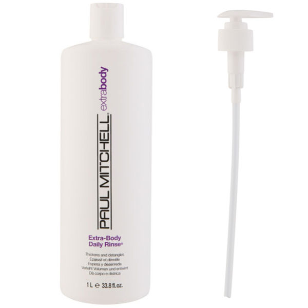 Paul Mitchell Extra Body Daily Rinse (1000ml) with Pump (Bundle)