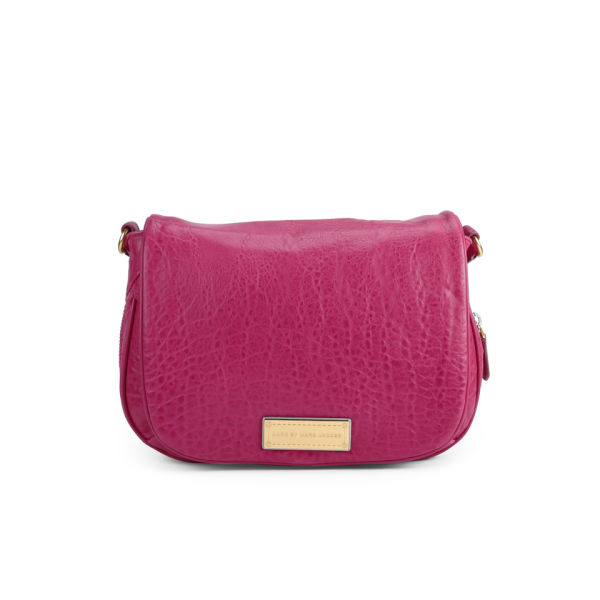 Marc by Marc Jacobs Washed Up The Nash Leather Cross Body Bag - Raspberries