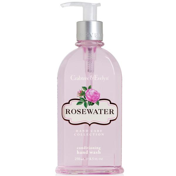 Jabón de manos hidratante Crabtree & Evelyn - Agua de rosas(250 ml)