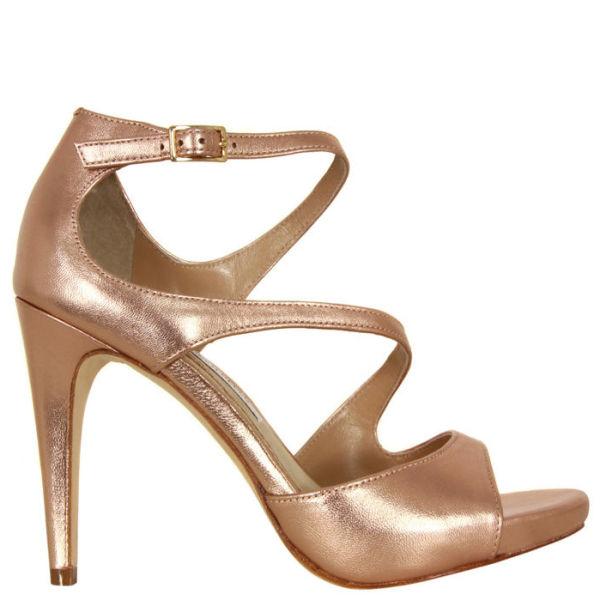 Diane von Furstenberg Women's Jujette Metallic Sandals - Rose Gold