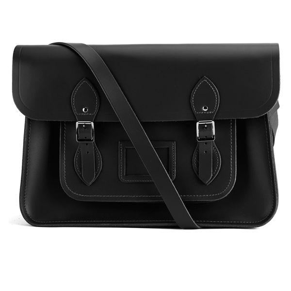 The Cambridge Satchel Company 15 Inch Leather Satchel - Black