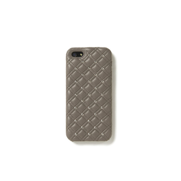 The Case Factory Women's iPhone 5 Case - Studs Nappa Taupe