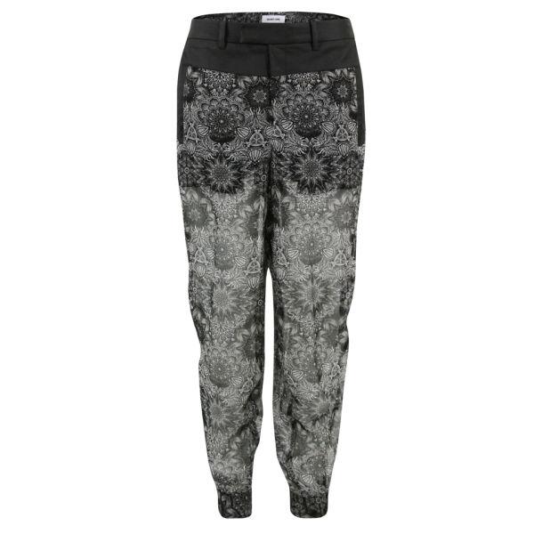 Helmut Lang Women's Mandala Viscose Print Trousers - Grey Multi