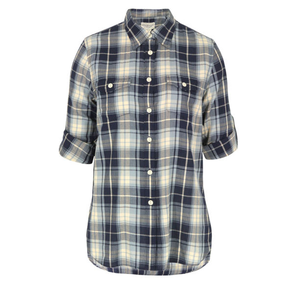 Denim & Supply - Ralph Lauren Women's Bergen Plaid Slouchy Utility Shirt - Blue