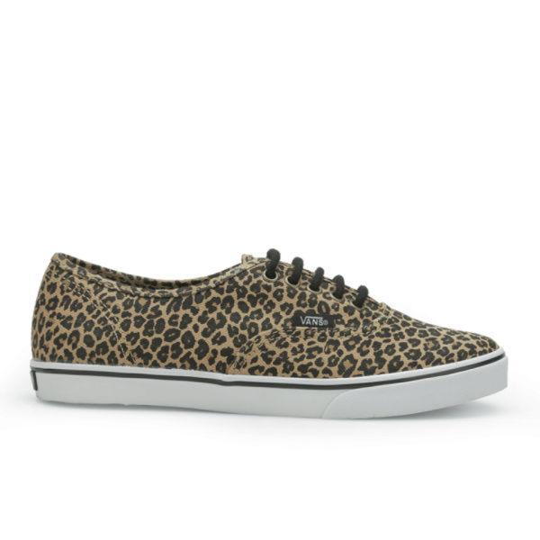 Vans Women's Authentic Lo Pro Leopard Trainers - Leopard