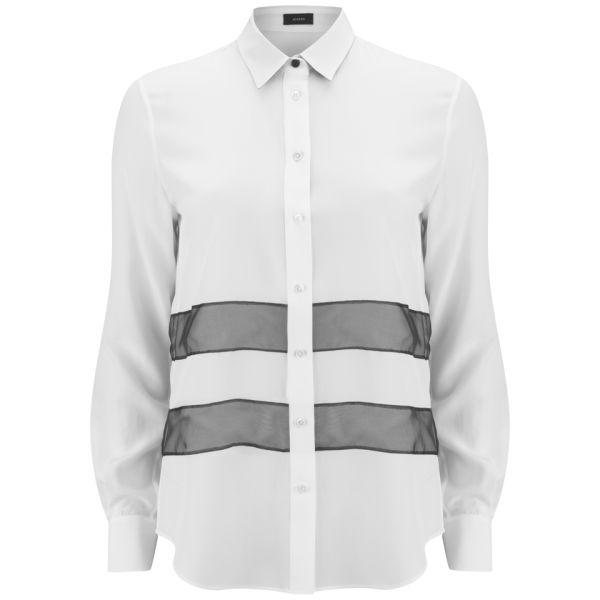 Joseph Women's James Organza Blouse - Off White/Black