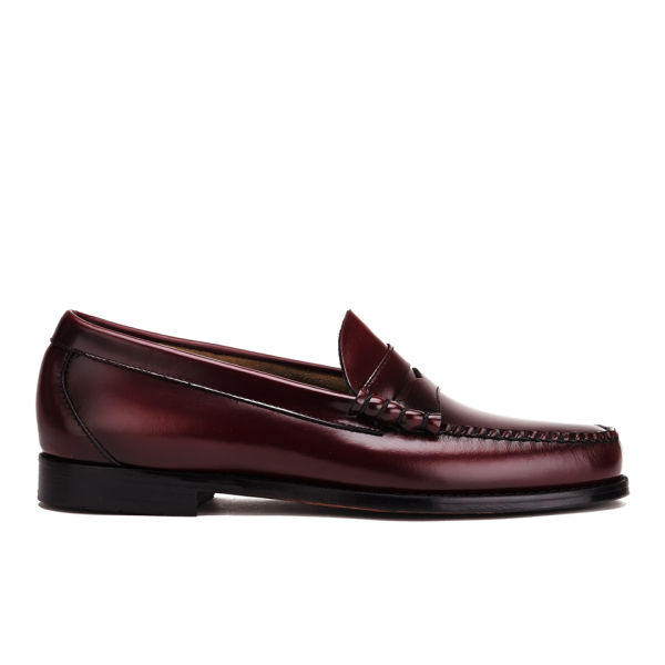Bass Weejuns Men's Larson Moc Leather Penny Loafers - Wine