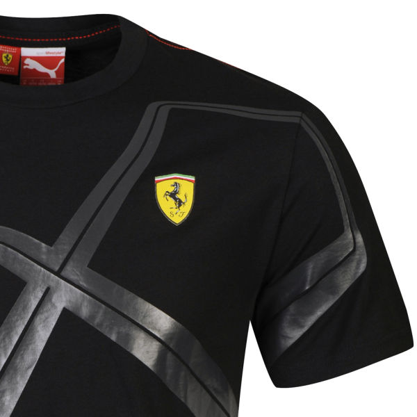 Puma Men S Ferrari Graphic T Shirt Black Clothing Thehut Com