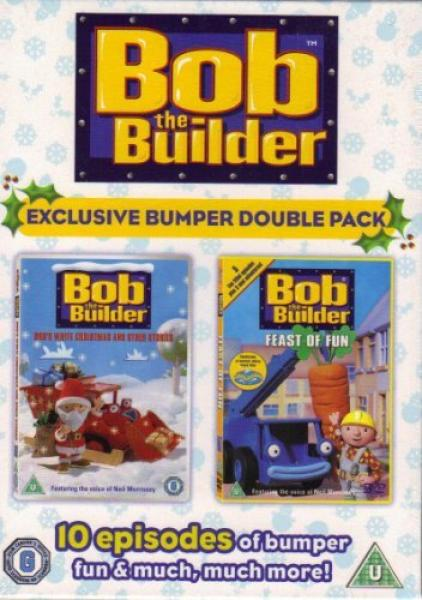 bob the builder double christmas pack feast of fun bobs white christmas dvd