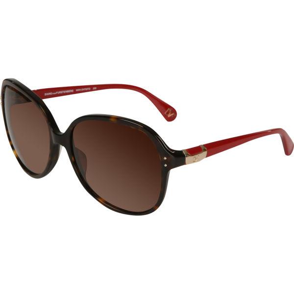 Diane von Furstenberg Maya Oversized Round Sunglasses - Dark Tortoise