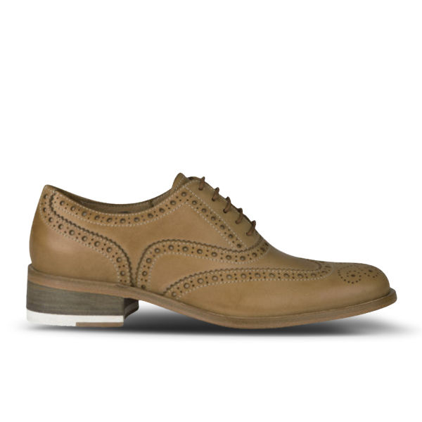 Paul Smith Shoes Women's Milena Leather Brogues - Light Tan Dip Dye